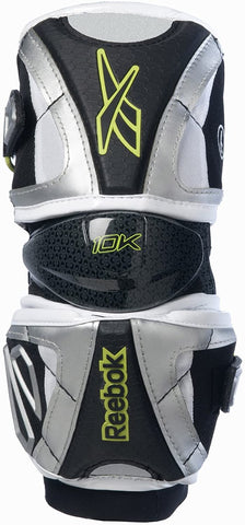 Reebok 10K Lacrosse Elbow Guards - Black/Silver/Lime - X-Large - New