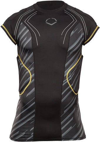 EvoShield Youth CustomTech EvoAlpha Football Rib Shirt - Black/Grey - Youth Size Large - New