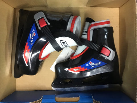 Bauer Lil Champ Figure Skates - Black/Red - Child Size 8 - Used