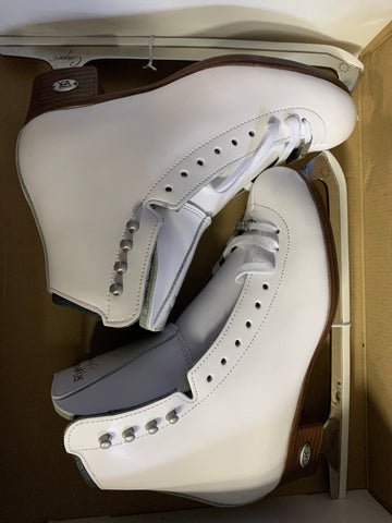 Riedell Diamond Figure Skates - White - Women's Size 6.5 - New