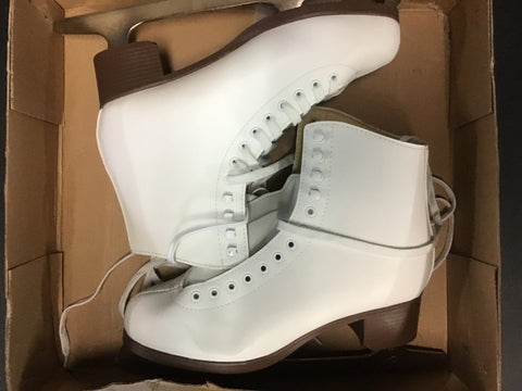 Jackson Glacier Figure Skates - White - Womens Size 10 - New