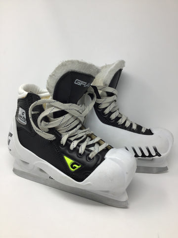Graf Goaler Pro Ice Hockey Goalie Skates - Junior's Size 4.5 - Used - Very Good