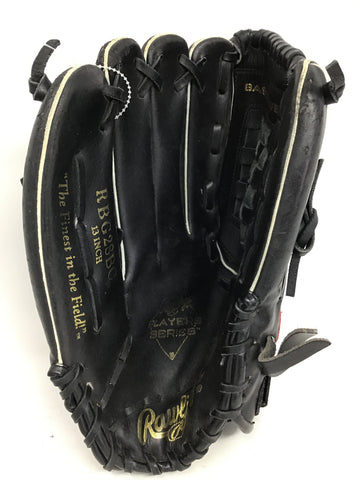 "Rawlings Player Series Infielders 13"" Baseball Glove - Black - Right Hand Catch - Used"
