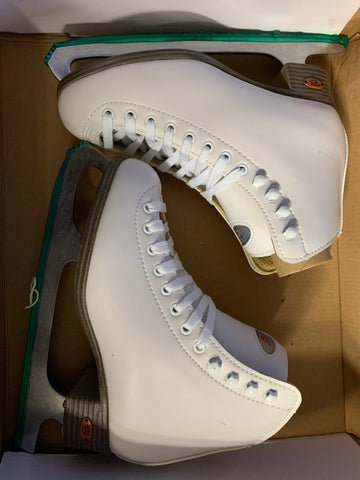 Riedell Figure Skates - White - Junior Size 4 - New