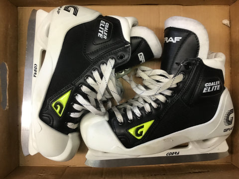 Graf Goaler Elite Goalie Skates - Black/Volt - Size 6.5 Senior - New