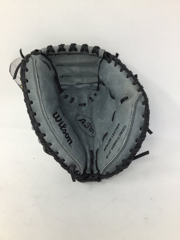 "Wilson A360 Catchers Glove 32 1/2"" - Grey/Black - Left Hand Catch - New"
