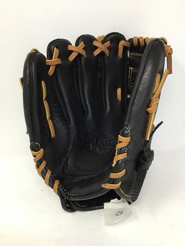 "Rawlings Premium Pro Series PPR1175 11 3/4"" All Leather Baseball Glove - Black - Right Hand Catch - New"