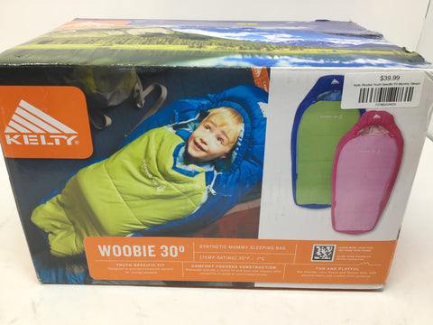 Ketly Woobie Youth Specific Fit Mummy Sleeping Bag - Camping - New
