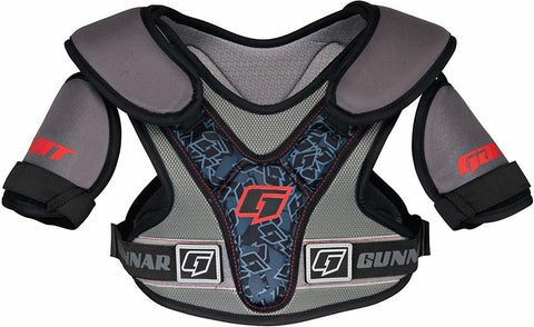 Gait Gunnar Lacrosse Shoulder Pads - Grey With Blue - New