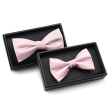 Load image into Gallery viewer, Want a day filled with endless compliments, well the Louzo Le Rose bow tie is here for you. Some may call the colour Light Pink, we call it Le Rose. Its 100% Silk and has the option to be personalised by being monogrammed in 1 of 5 different colours.