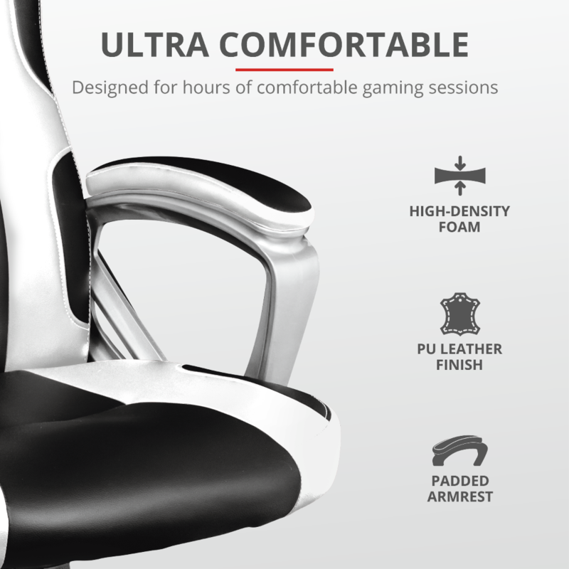 GXT 705W Ryon Gaming Chair | White