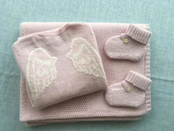 Angel Jumper, Blanket & Shoe Set
