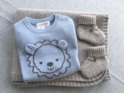 Lion Jumper, Blanket & Socks Set
