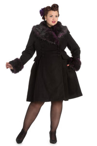 Rock Noir Coat (Black and Purple)