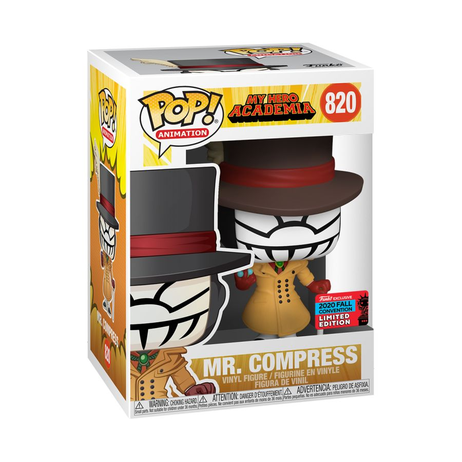 My Hero Academia - Mr Compress NYCC 2020 US Exclusive Pop! Vinyl