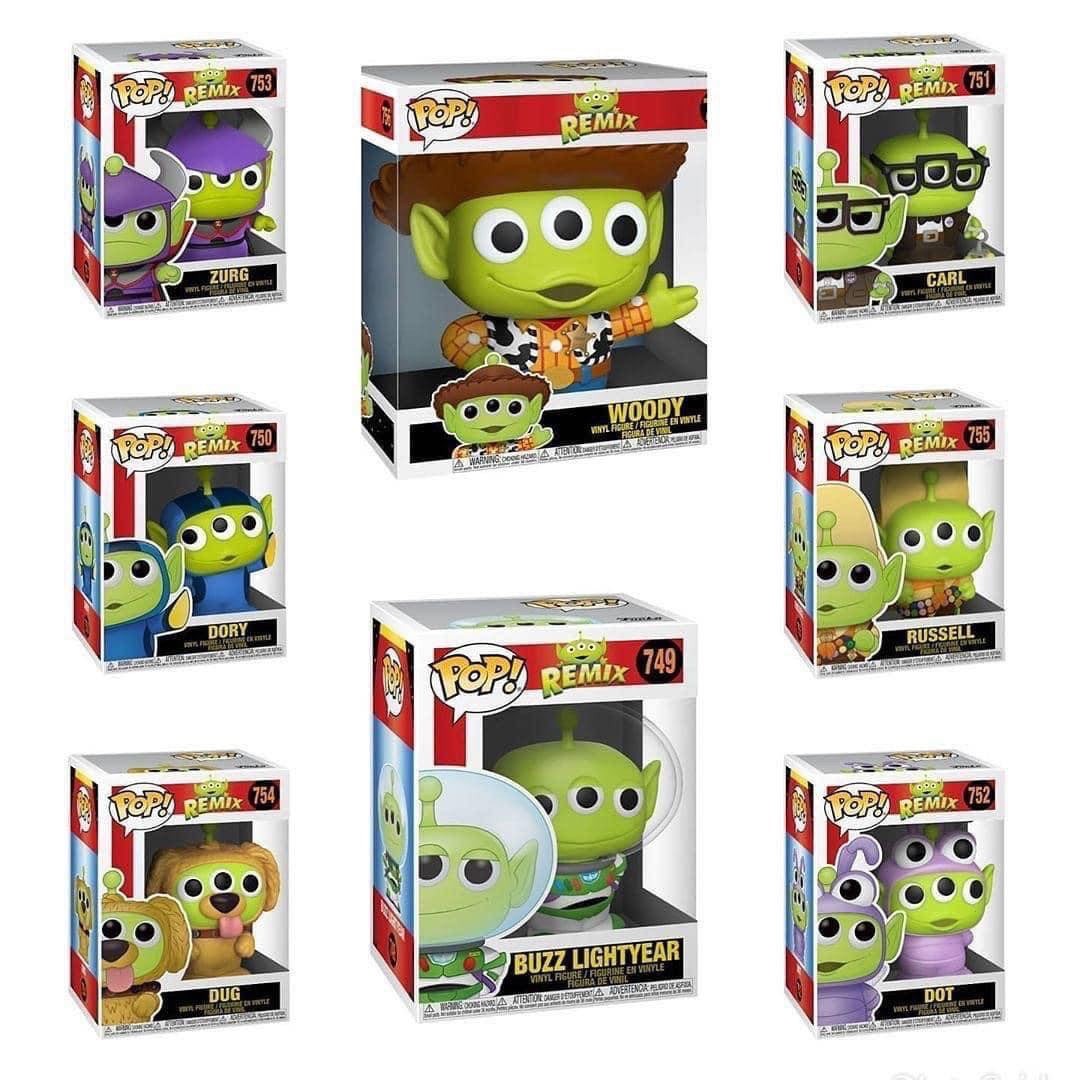 Pixar -  Alien Remix Pop! Vinyl Bundle (Set of 8)