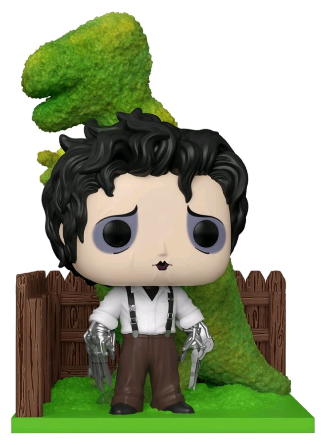 Edward Scissorhands | Edward Scissorhands with Dinosaur Hedge Deluxe Pop! Vinyl Figure