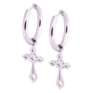 Little Gothic Cross Hoops