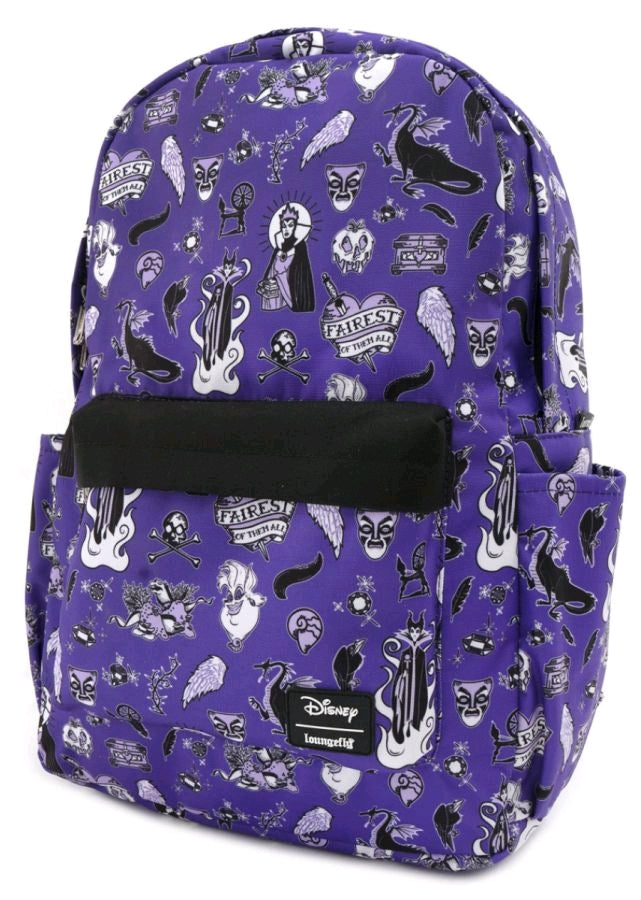 Disney Villains Purple Backpack