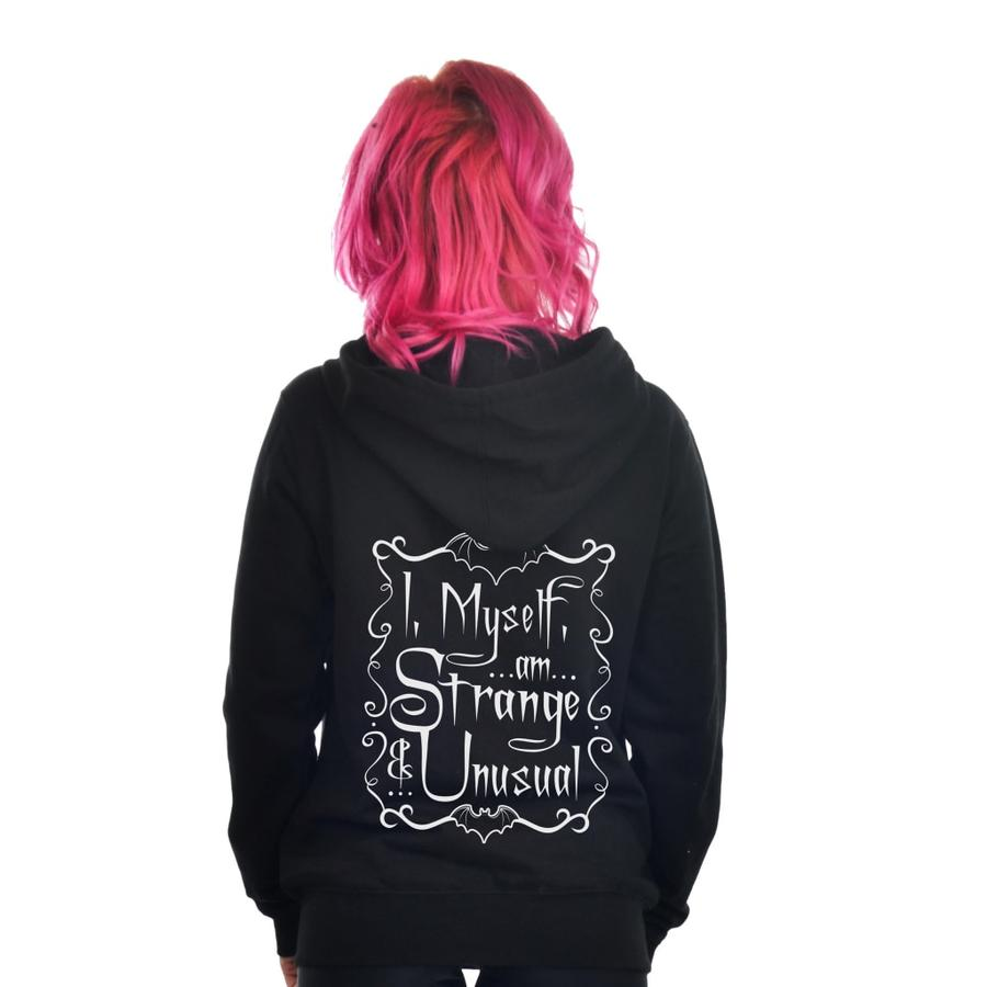 I, Myself, Am Strange And Unusual Zip Hoodie