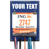 Medal and Bib Display Hanger - CREATE YOUR OWN TEXT