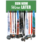 RUN NOW WINE LATER - Running Medals Display Holder Rack