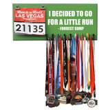 I DECIDED TO GO FOR A LITTLE RUN - FORREST GUMP - Medal and Bib Hanger, Holder, Display - Available in 12 different colors!