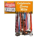 Medal Hanger, Display, Holder - CELEBRATE EVERY MILE