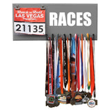 Running Marathon Medal Display, Holder, Hanger - RACES