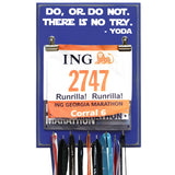Do, Or Do Not. There Is No Try. - Yoda - Medal Bib Display