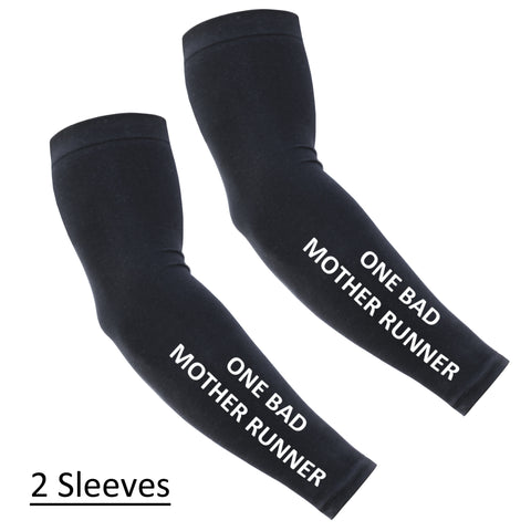 Running Arm Sleeves - Compression Arm Sleeves - ONE BAD MOTHER RUNNER