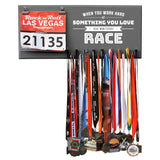 When You Work Hard At Something You Love You Win Every Race - Medals and Bib Hanger, Holder, Display