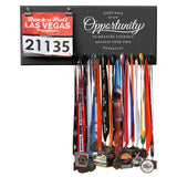 Every Race Is An Opportunity - Medals and Bib Hanger, Holder, Display