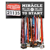 The Miracle Isn't That I Finished The Miracle Is That I Had The Courage To Start - Medals and Bib Hanger, Holder, Display