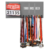 Train Race Beer - Medals and Bib Hanger, Holder, Display