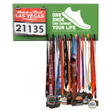 One Shoe Can Change Your Life  - Medals and Bib Hanger, Holder, Display