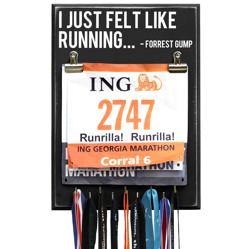 I Just Felt Like Running Forrest Gump - Medal Display