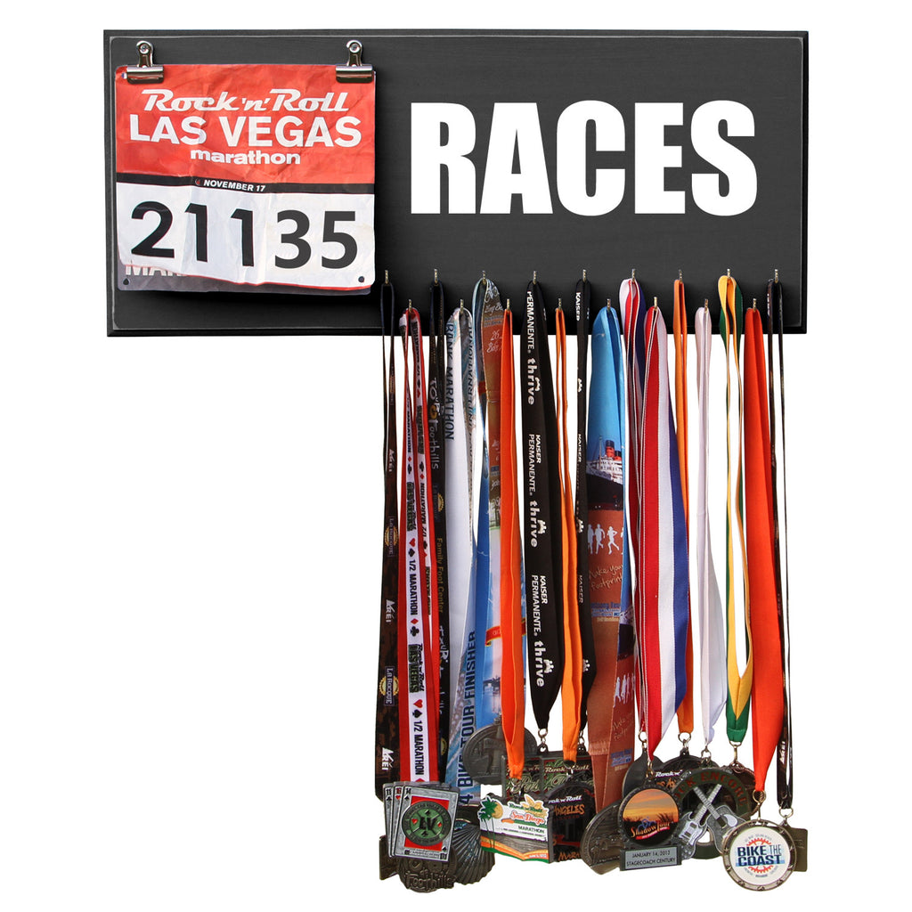 Races Medal and Bib Display - Gift For Runners