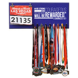 Be Strong And Courageous For You Work Will Be Rewarded- 2 Chronicles 15:7  - Medals and Bib Hanger, Holder, Display
