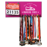 This Princess Wears Running Shoes - Medals and Bib Hanger, Holder, Display