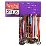 Be Strong And Courageous For The Lord Your God Will Be With You Wherever You Go- Joshua 1:9 - Medals and Bib Hanger, Holder, Display