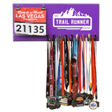 Trail Runner - Medals and Bib Hanger, Holder, Display