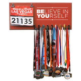 Believe In Yourself- Medals and Bib Hanger, Holder, Display