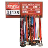 The Only Way To Define Your Limits Is By Going Beyond Them- Medals and Bib Hanger, Holder, Display