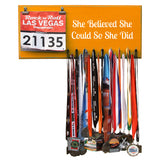 She Believed She Could So She Did Medal Hanger, Holder, Display