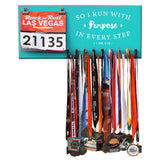 So I Run With Purpose In Every Step- Medals and Bib Hanger, Holder, Display