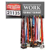 Medal Hanger and Bib Display - Work For What You Want