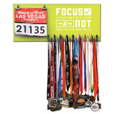 Focus On How Far You've Come Not How Far You Have To Go- Medals and Bib Hanger, Holder, Display