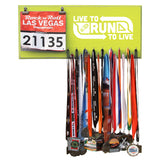 Live To Run To Live - Medals and Bib Hanger, Holder, Display