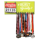 Train Like A Beast Look Like A Beauty - Medals and Bib Hanger, Holder, Display